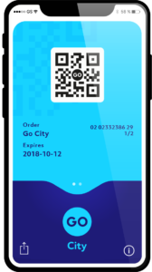 Билет в смартфоне Go City Card