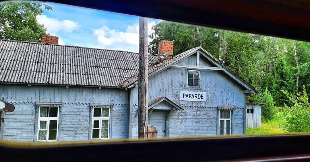 ЖД поезд Фердинад по маршруту Гулбене - Алуксне